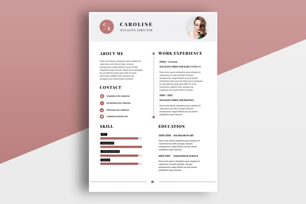 Minimal Resume / CV Template by TMint on Envato Elements   Minimal resume, Cv template, Resume cv